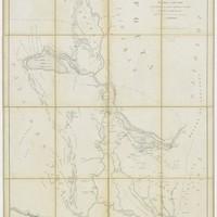 Carte du Sénégal de Podor à Saint-Louis, avec les itinéraires des colonnes expéditionnaires du Sénégal pendant les années 1855-1856 par L. Faidherbe